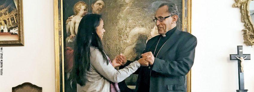 Joaquín María López de Andújar obispo de Getafe y Norka Risso virgen consagrada