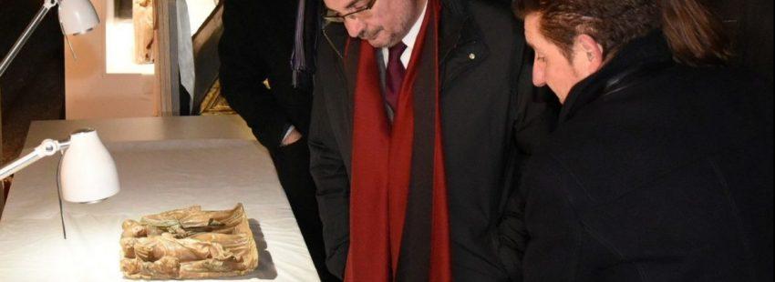 El presidente de Aragón Javier Lamban visita Sijena/EFE