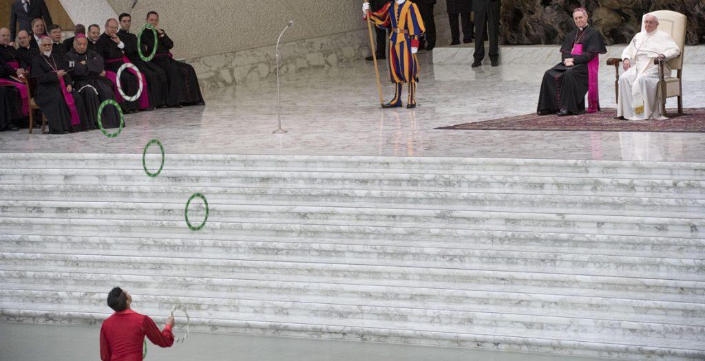 papa Francisco audiencia general miércoles 20 diciembre 2017 circo