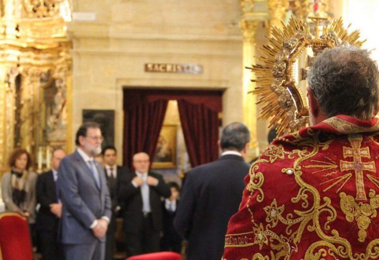 El presidente del Gobierno, Mariano Rajoy, peregrina a Caravaca de la Cruz