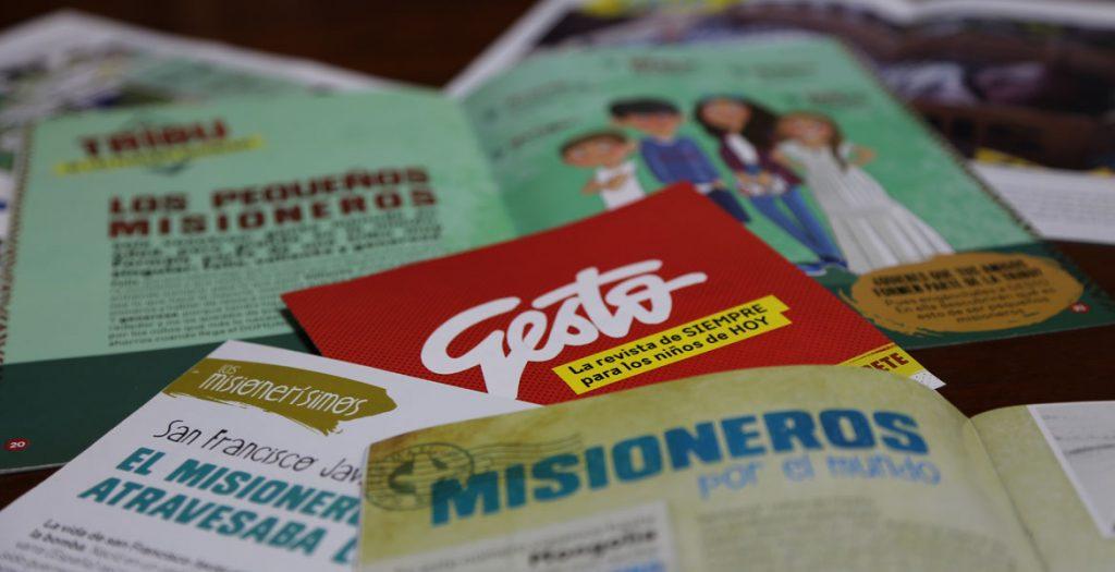 revista Gesto varias páginas de la publicación de OMP para niños