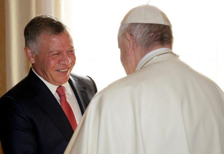 El Papa Francisco, con el rey Abdullah de Jordania/LOR