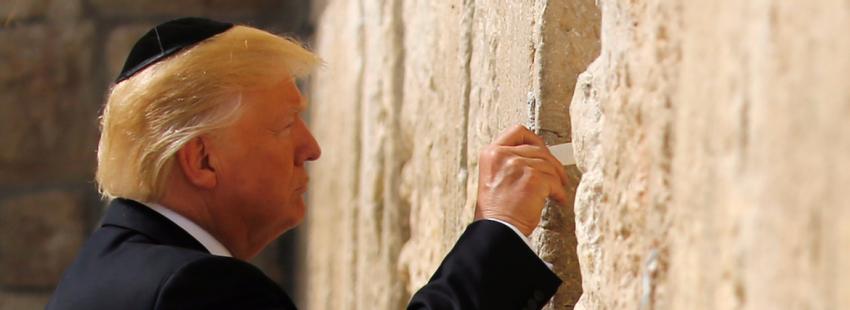 Donald Trump, en el muro de Jerusalén/EFE