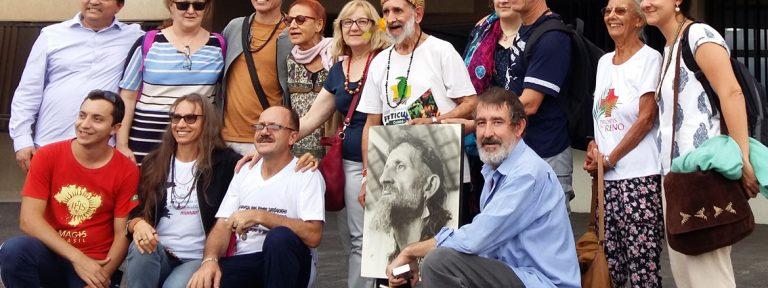 familiares de Vicente Cañas, Kiwxí, misionero jesuita asesinado en Brasil durante el juicio noviembre 2017