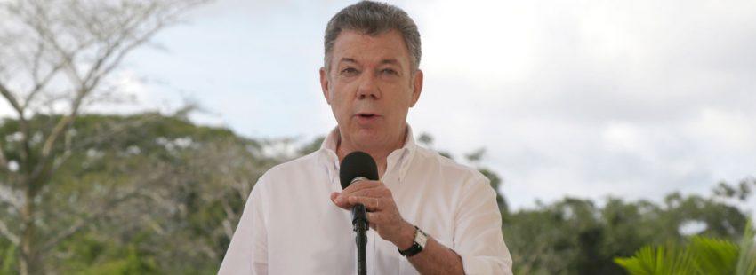 Juan Manuel Santos presidente de Colombia enero 2018