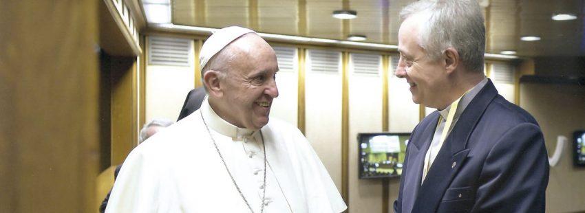 papa Francisco con Tomaz Mavric (Buenos Aires, 1959), superior general de la Congregación de la Misión vicencianos paúles