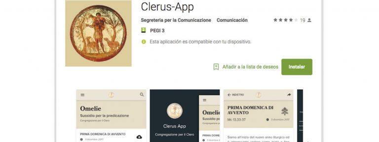 clerus app aplicación del Vaticano para preparar las homilías dominicales