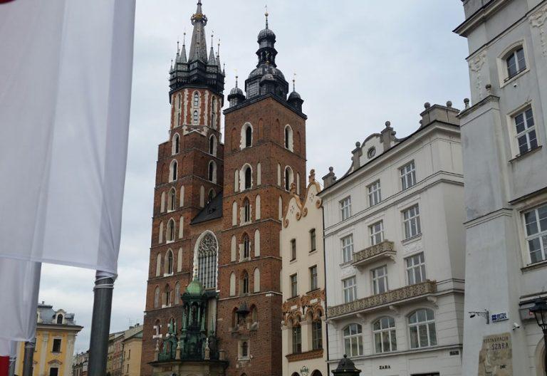 Basílica de Santa María, junto a la Plaza Mayor de Cracovia