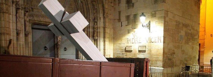 Cruz de Callosa, Alicante, retirada de una iglesia por Ley Memoria Histórica enero 2018