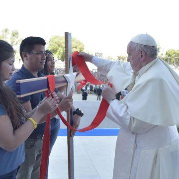 papa Francisco viaje Chile encuentro con jóvenes santuario de Maipú en Santiago 17 enero 2018