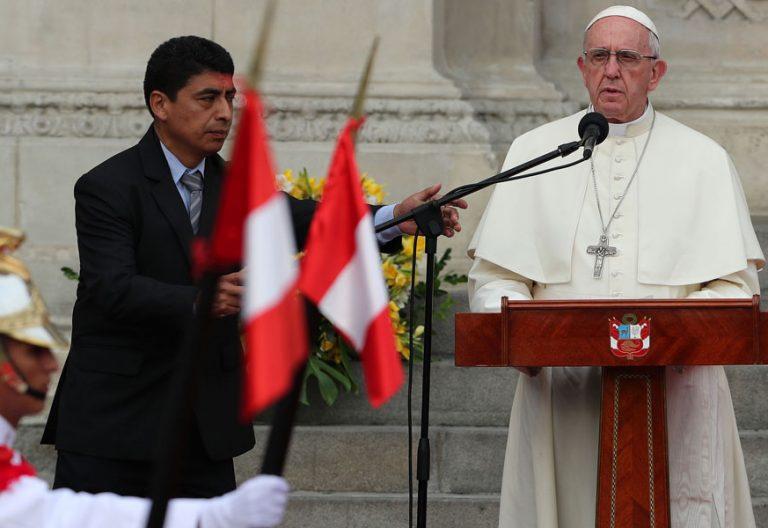 papa Francisco viaje Perú encuentro con las autoridades Lima 19 enero 2018