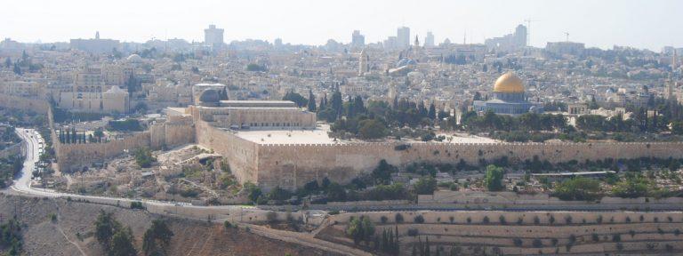 Vista de Jerusalén desde el cementerio