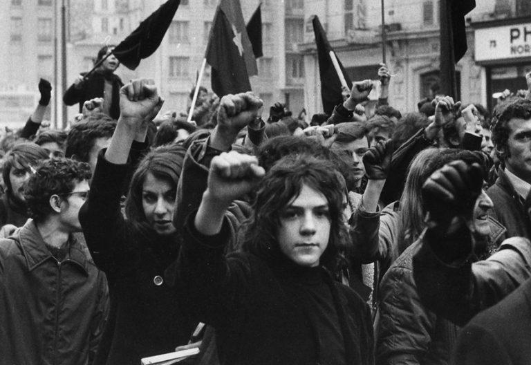 jóvenes franceses en las protestas de Mayo del 68
