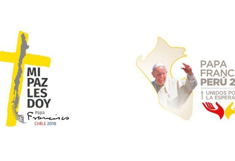 logotipos del viaje visita apostólica papa Francisco a Chile y Perú enero 2018