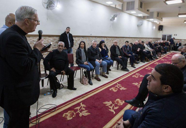 Obispos de la Coordinadora de conferencias episcopales para Tierra Santa en su encuentro anual en enero de 2018 en Jerusalén