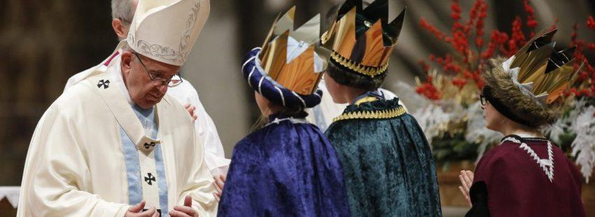 El Papa Francisco, en la misa del 1 de enero de 2018/EFE