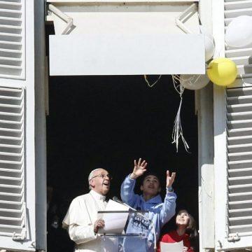 El Papa, durante el rezo del Ángelus/EFE