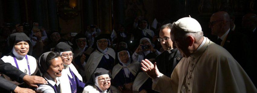 El Papa Francisco, durante el encuentro con las contemplativas peruanas en Lima/EFE