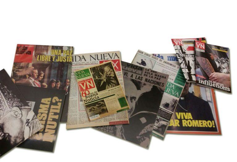 portadas de varias portadas históricas de Vida Nueva