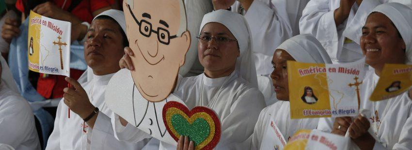 religiosas en Bolivia durante la visita del papa Francisco julio 2015