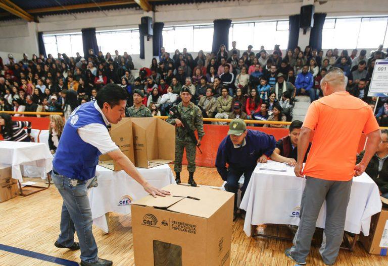 simulacro electoral Ecuador 21 enero 2018