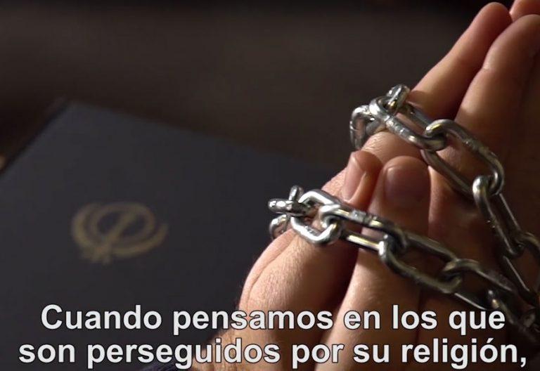 fotograma del vídeo del papa Francisco por las minorías religiosas en Asia enero 2018