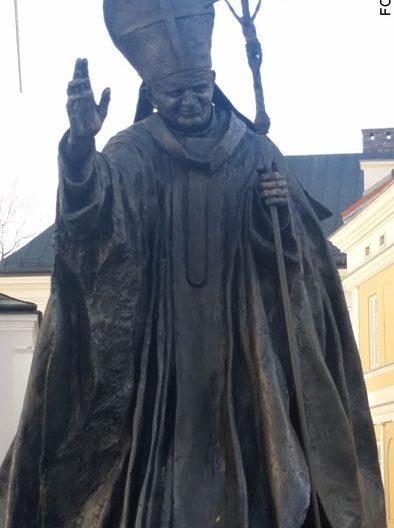 imagen de papa Juan Pablo II en Wadowice