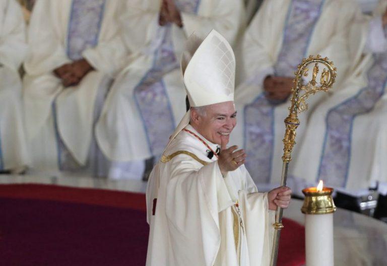 El cardenal Carlos Aguiar Retes, en su toma de posesión como arzobispo de México/EFE