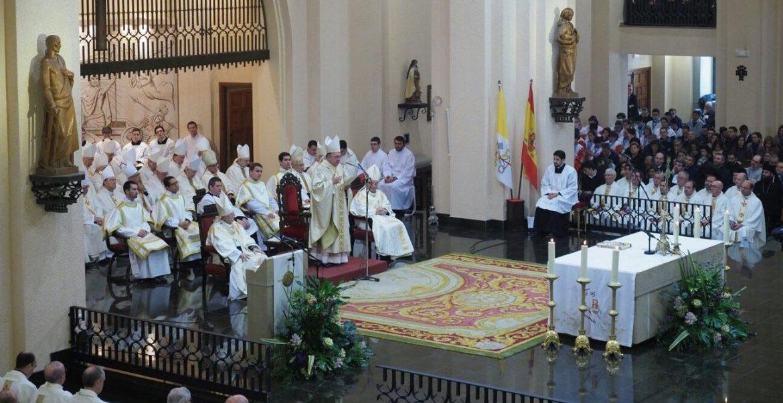 La basílica del Sagrado Corazón de Jesús, durante la toma de posesión de García Beltrán