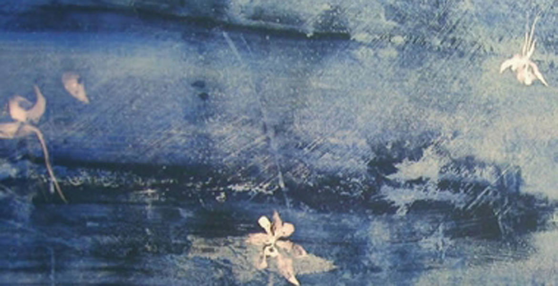 Cuadro de flores de Columbine hecho por Makoto Fujimura