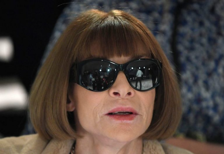 La editora de la revista Vogue, Anna Wintour