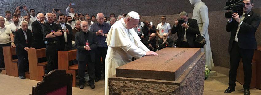 El papa Francisco, en su encuentro con los jesuitas de Chile 16 enero 2018