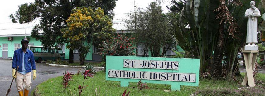 Hospital católico en Monrovia (Liberia), cerrado tras hacer frente a la epidemia de ébola que en 2014 causó miles de muertes en el país, y de varios miembros del personal sanitario, entre ellos, la de un religioso español de la Orden San Juan de Dios