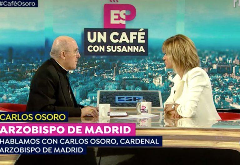 El cardenal arzobispo de Madrid, Carlos Osoro, en el programa de Susanna Griso Espejo Público Antena 3