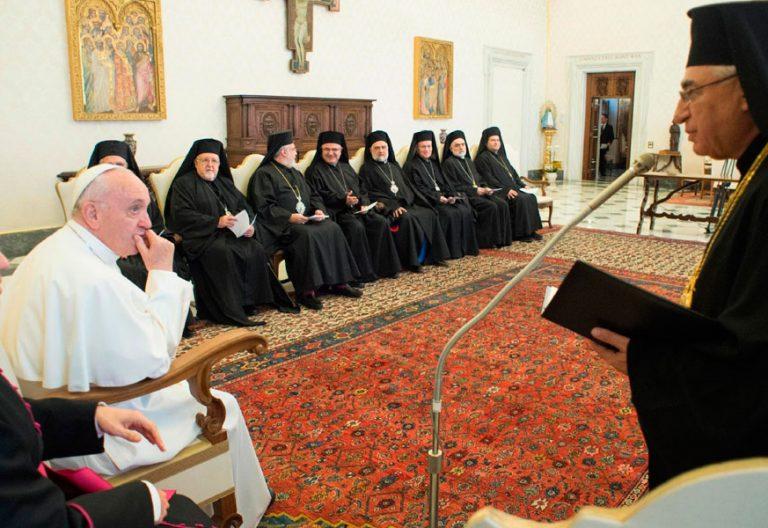 El papa Francisco, con la Iglesia greco-melquita