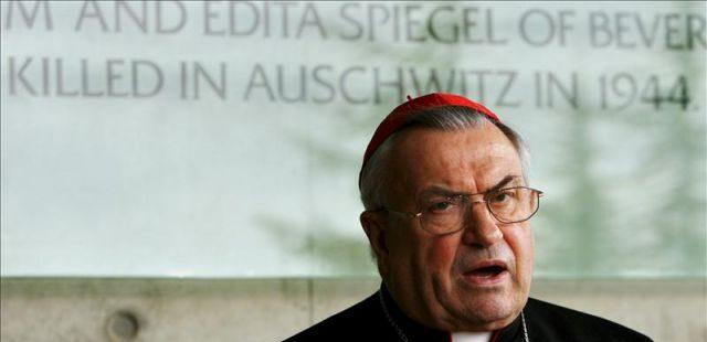 El cardenal alemán Karl Lehmann falleci.ó el 11 de enero de 2018 a los 81 años de edad