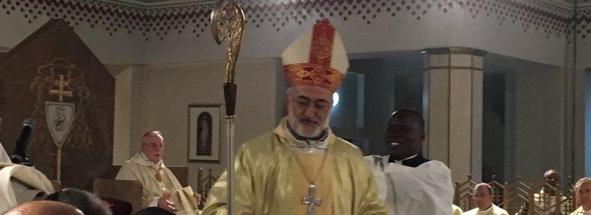 El salesiano Cristóbal López, durante su ordenación episcopal como arzobispo de Rabat, que tuvo lugar el 10 de marzo de 2018