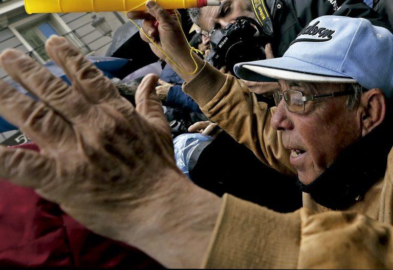 Manifestación de jubilados pensionistas yayoflautas