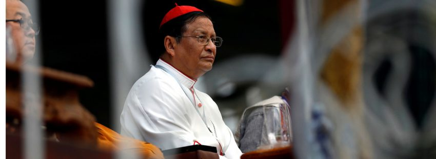 El cardenal Charles Bo arzobispo de rangun en una Misa del 10 de octubre