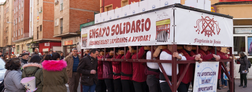 la campaña solidaria de la cofradía de la Flagelación en Logroño