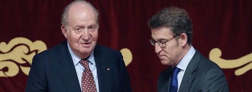 El rey emérito Juan Carlos recibe la credencial de honor como embajador del Camino de Santiago