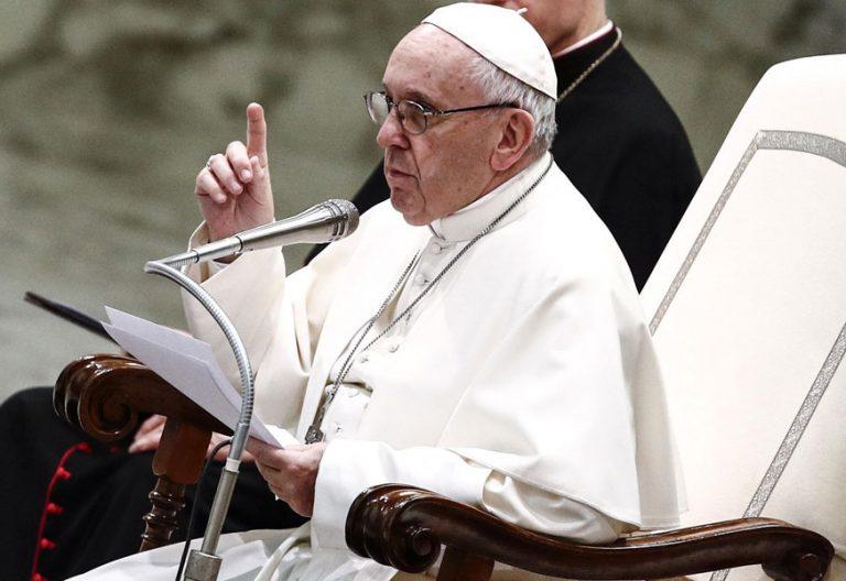 el papa francisco en la audiencia general del 7 de marzo