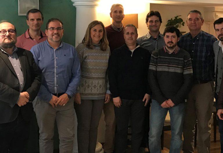 Miembros de la Plataforma Estatal de Profesores de Religión en la escuela pública tras la reunión mantenida en Madrid el 17 de marzo de 2018 para consensuar un documento para demandar estabilidad a la asignatura de Religión y poder acceder a la profesión mediante oposición