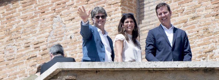 Dos de las víctimas del sacerdote pederasta Fernando Karadima, Kames Halmilton y Juan Carlos Cruz, en el Vaticano para reunirse con Francisco sobre la crisis chilena/ EFE