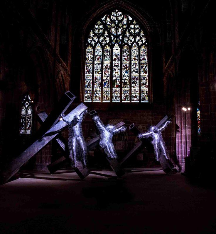 Tres esculturas de David Mach pertenecientes al conjunto gólgota probablemente