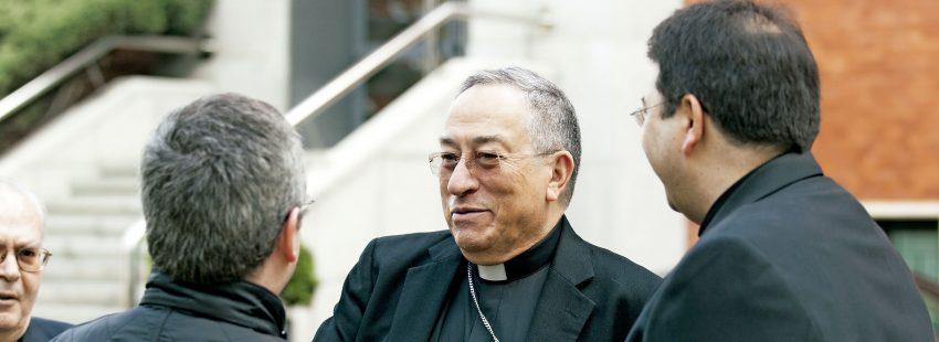 El cardenal arzobispo de Tegucigalpa y coordinador del C-9, Óscar Andrés Rodríguez Maradiaga, ponente de la 47ª Semana Nacional para los Institutos de Vida Consagrada