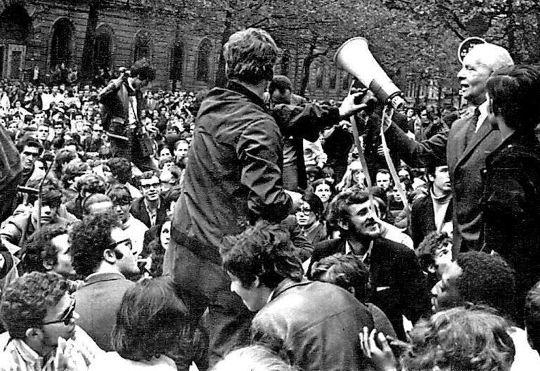 Mayo del 68 París jóvenes protestas