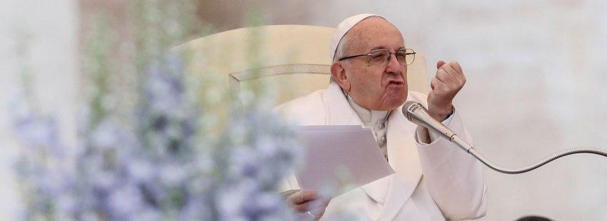 El papa Francisco en la audiencia general en San Pedro 4 de abril 2018