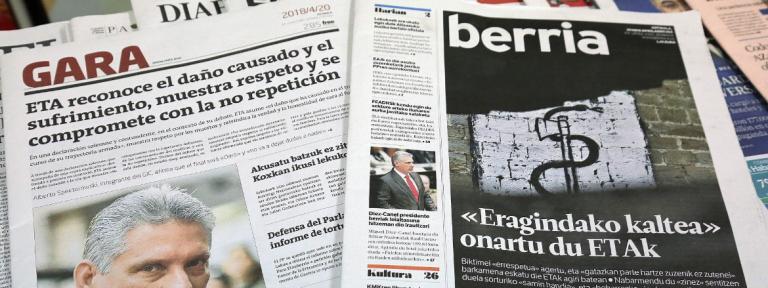 Los obispos de Navarra y País Vascos forman una nota ante la declaración de perdón de ETA