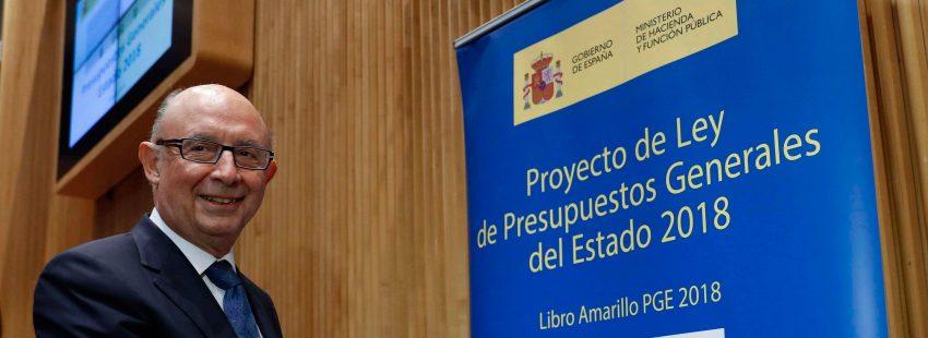 Cristobal Montoro, ministro de Economía y Hacienda, presenta los presupuestos generales del estado